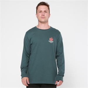 QRS LONG SLEEVE TEE LA FLAME-mens--BONEYARD // PUKEKOHE - HOME