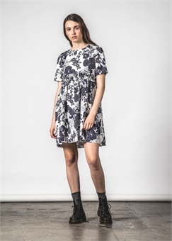 PROIRITY DRESS NAVY PEONY-womens-BONEYARD // PUKEKOHE - HOME