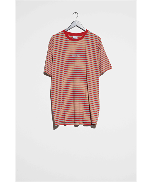 NYC YD STRIPES SHORTSLEEVE TEE SCARLET