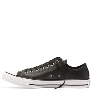 MENS CHUCK TAYLOR  POST GAME LEATHER LOW TOP BLACK-shoes-BONEYARD // PUKEKOHE - HOME