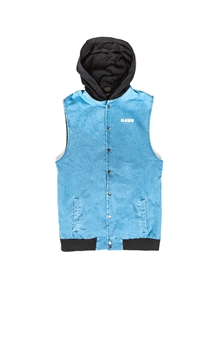 SHADE HOODED VEST-hoodies-BONEYARD // PUKEKOHE - HOME