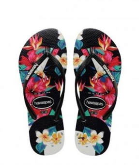 GIRLS SLIM TROPICAL-jandals-BONEYARD // PUKEKOHE - HOME
