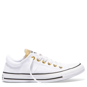 WOMENS CHUCK TAYLOR ALL STAR MADISON METALLIC LOW TOP WHITE-shoes-BONEYARD // PUKEKOHE - HOME
