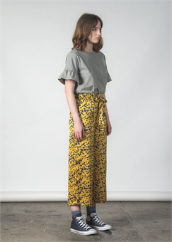 FLUSH PANT CANARY FLORAL-womens-BONEYARD // PUKEKOHE - HOME