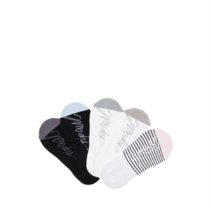 WOMENS PLAINS INVISIBLE SOX 5 PACK-footwear-BONEYARD // PUKEKOHE - HOME