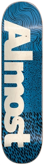 ALMOST CT LOGO BLUE SKATEBOARD DECK-skateboards-BONEYARD // PUKEKOHE - HOME