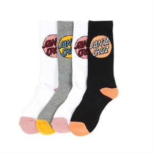 WOMENS POP DOT SOCK 4 PACK-womens-BONEYARD // PUKEKOHE - HOME