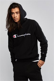 REVERSE WEAVE PULLOVER HOOD WITH SCRIPT EMBROIDERY-mens--BONEYARD // PUKEKOHE - HOME