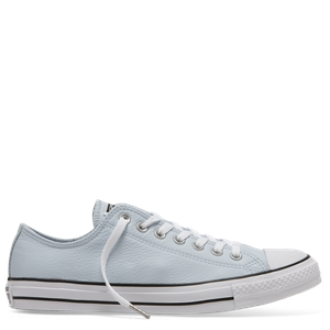 CHUCK TAYLOR LEATHER LOW BLUE-womens-BONEYARD // PUKEKOHE - HOME