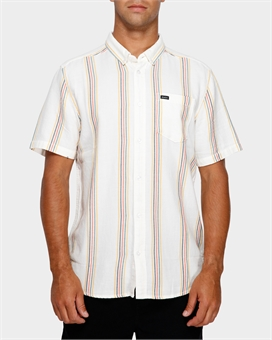 SPLIT STRIPE SHORTSLEEVE SHIRT-mens--BONEYARD // PUKEKOHE - HOME