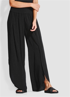 SHIRRED WRAP PANT-womens-BONEYARD // PUKEKOHE - HOME