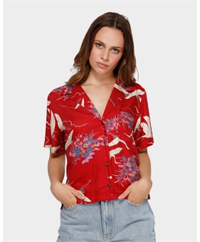 CRANES SHORTSLEEVE SHIRT-womens-BONEYARD // PUKEKOHE - HOME