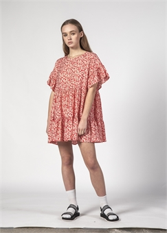 PLAYFUL DRESS RED DITSY-womens-BONEYARD // PUKEKOHE - HOME
