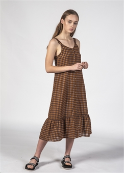 SUNKISS DRESS YELLOW CHECKS-womens-BONEYARD // PUKEKOHE - HOME