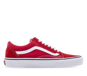 OLD SKOOL RACING RED TRUE WHITE-womens-BONEYARD // PUKEKOHE - HOME
