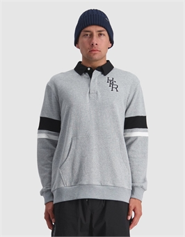 FILED LONGSLEEVE POLO-mens--BONEYARD // PUKEKOHE - HOME