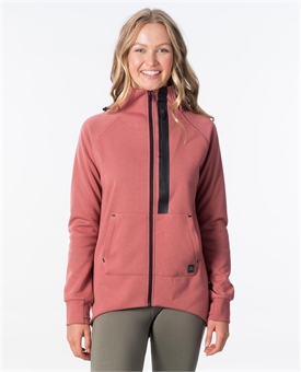 ANTISERIES FLUX ZIP THRU FLEECE HOOD-womens-BONEYARD // PUKEKOHE - HOME