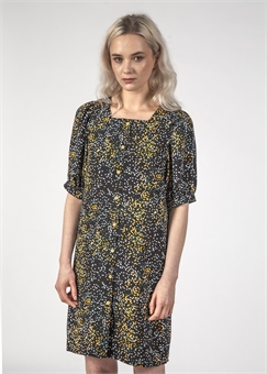 SMALL TALK DRESS BLACK MINI BLOTCH-womens-BONEYARD // PUKEKOHE - HOME