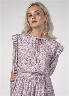 LA LA TOP LILAC SPECKLE-fashion-tops-BONEYARD // PUKEKOHE - HOME