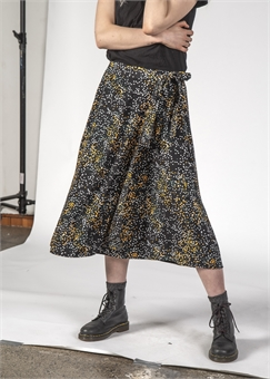FREEDOM SKIRT BLACK MINI BLOTCH -dresses-and-skirts-BONEYARD // PUKEKOHE - HOME