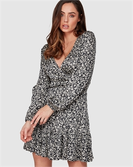 CHANTAL WRAP DRESS-womens-BONEYARD // PUKEKOHE - HOME