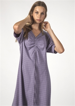 FLURRY DRESS LAVENDER GRID-womens-BONEYARD // PUKEKOHE - HOME