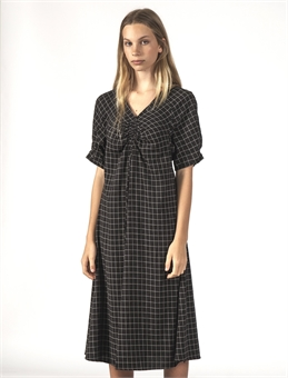 FLURRY DRESS BLACK GRID-womens-BONEYARD // PUKEKOHE - HOME