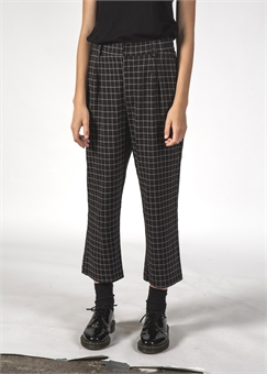 VINCENT PANT BLACK GRID-womens-BONEYARD // PUKEKOHE - HOME