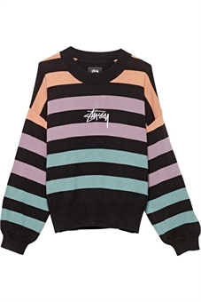 ELMONT STRIPE KNIT SWEATER-womens-BONEYARD // PUKEKOHE - HOME