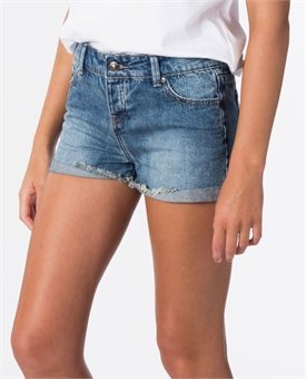 TEEN AMY DENIM SHORT-youth-and-kids-BONEYARD // PUKEKOHE - HOME
