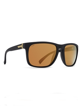 LOMAX BLACK SATIN GOLD WILD FLASH POLAR PLUS-sunglasses-BONEYARD // PUKEKOHE - HOME