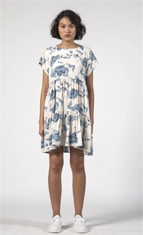 TWIRL DRESS FLORAL BLUE-dresses-and-skirts-BONEYARD // PUKEKOHE - HOME