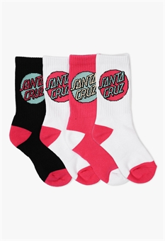 TEEN POP DOT SOCKS 4 PACK-youth-and-kids-BONEYARD // PUKEKOHE - HOME