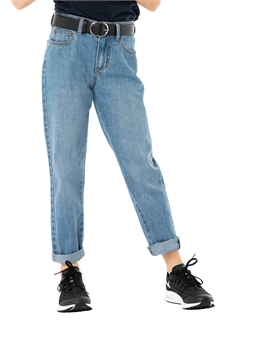TEEN HIGH RISE STRAIGHT JEANS-youth-and-kids-BONEYARD // PUKEKOHE - HOME