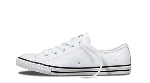 WOMENS CHUCK TAYLOR DAINTY LEATHER LOW TOP-womens-BONEYARD // PUKEKOHE - HOME